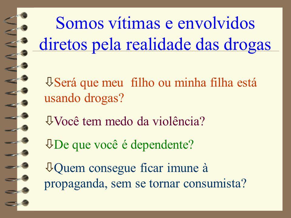 Somos vítimas e envolvidos diretos pela realidade das drogas ò Será que meu filho ou minha filha está usando drogas? ò Você tem medo da violência? ò D