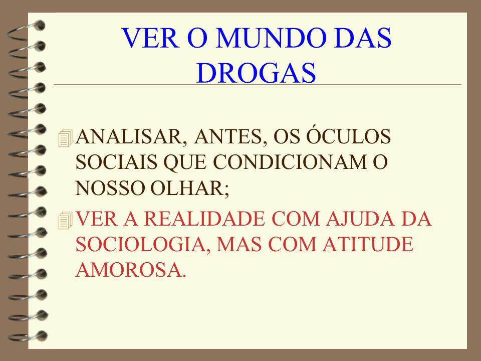 ÓCULOS SOCIAIS 4 Com que óculos miramos a realidade das drogas.