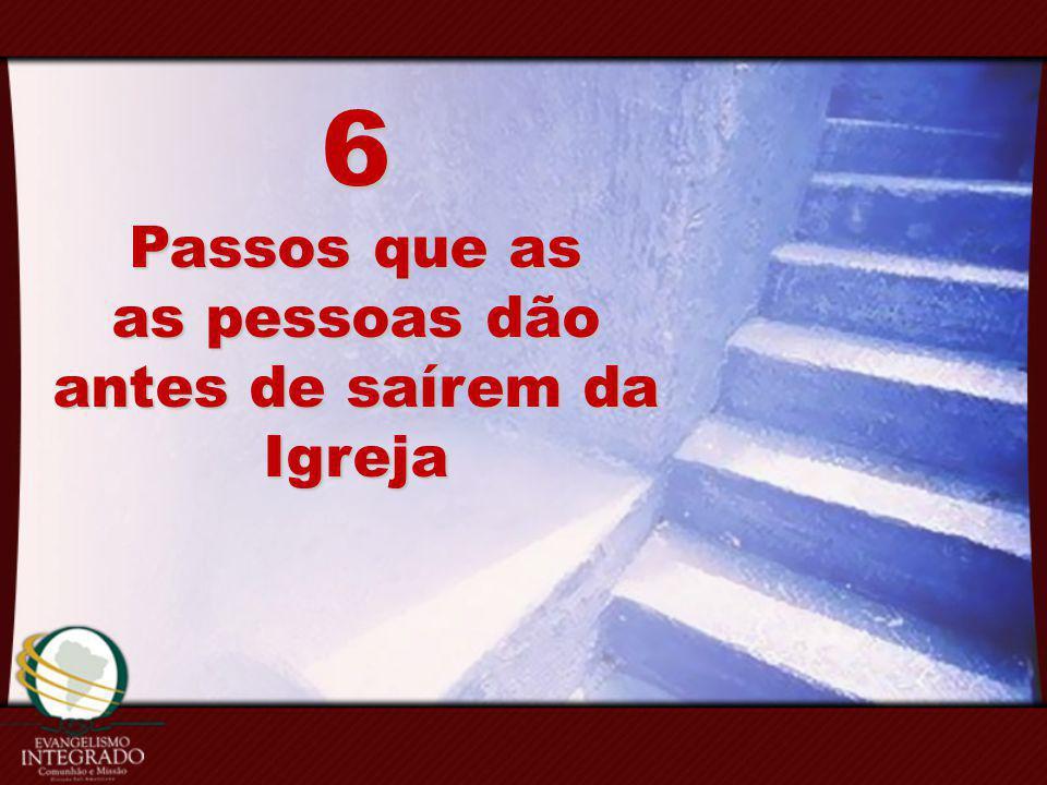 6 Passos que as as pessoas dão antes de saírem da Igreja
