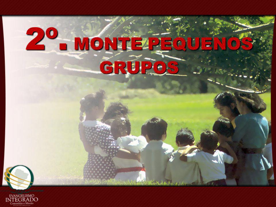 2º. MONTE PEQUENOS GRUPOS