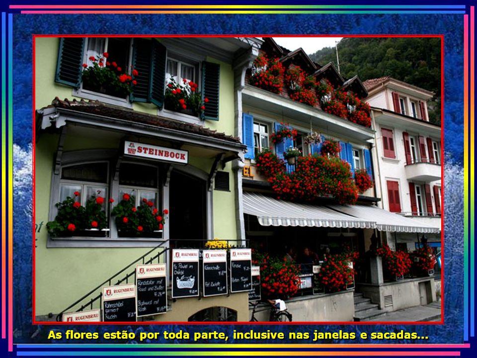 Interlaken é ponto de partida para vários passeios pela Suíça...