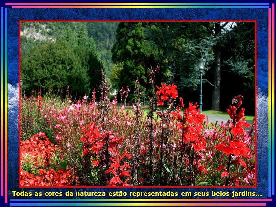 Todas as cores da natureza estão representadas em seus belos jardins...