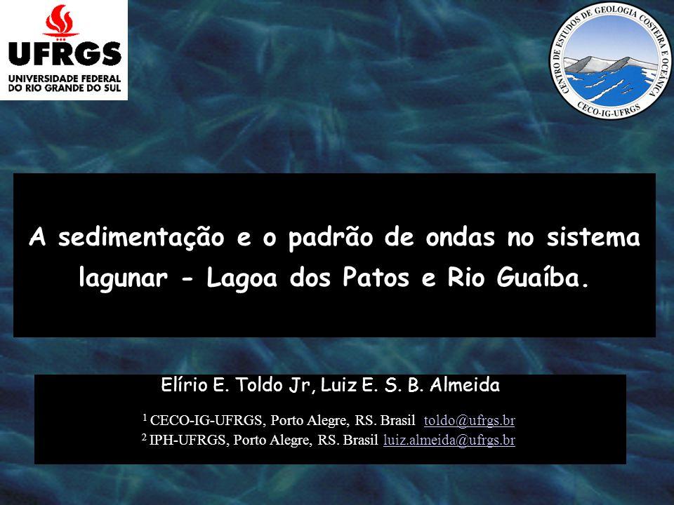 Localização da área de estudo no sul do Brasil. 0100 km Canal da Lagoa dos Patos A R G E N T I N A