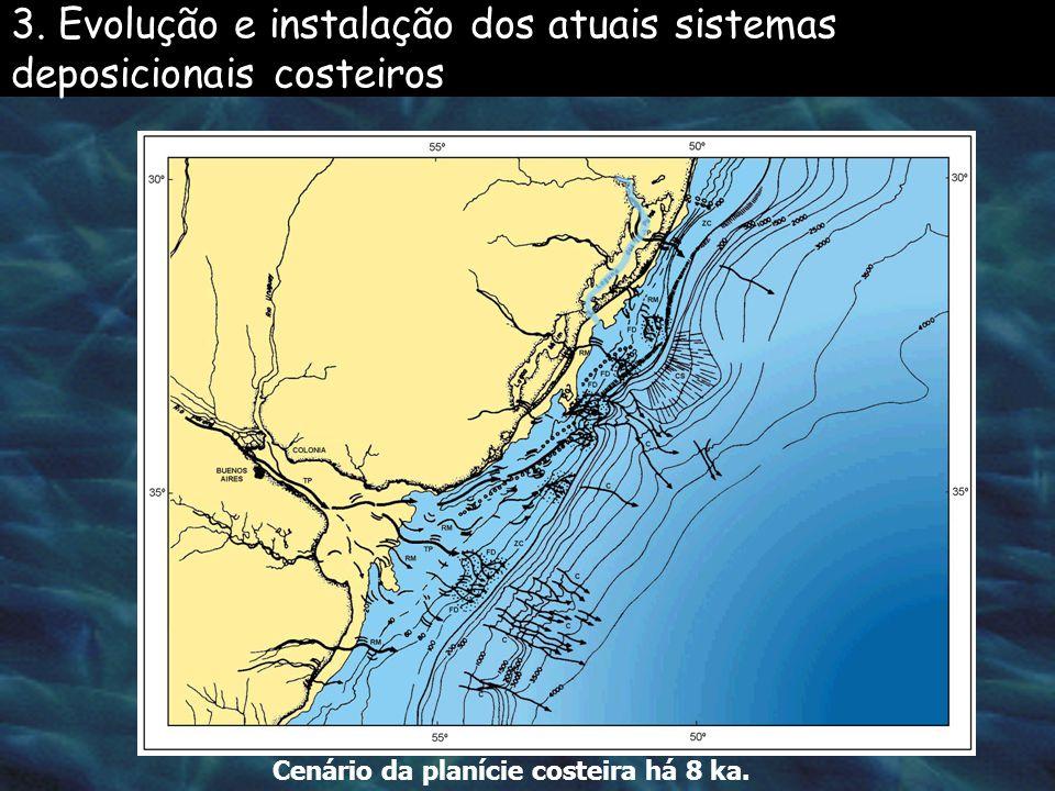 Localização dos deltas dos rio Camaquã e Jacuí. 3.1. Depósitos da carga de tração