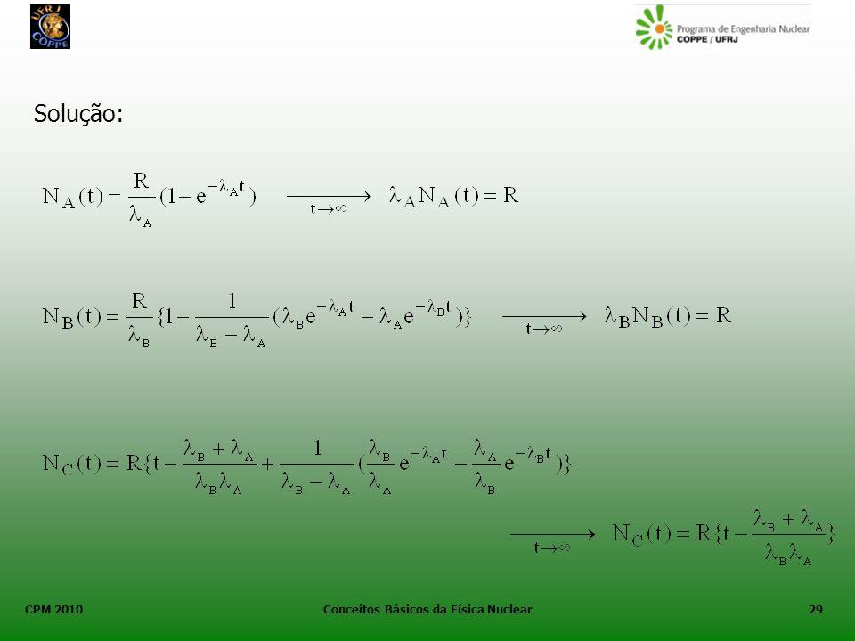CPM 2010 Conceitos Básicos da Física Nuclear29 Solução: