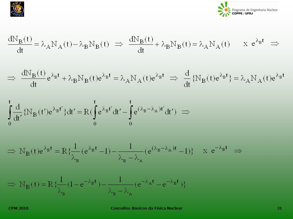 CPM 2010 Conceitos Básicos da Física Nuclear31