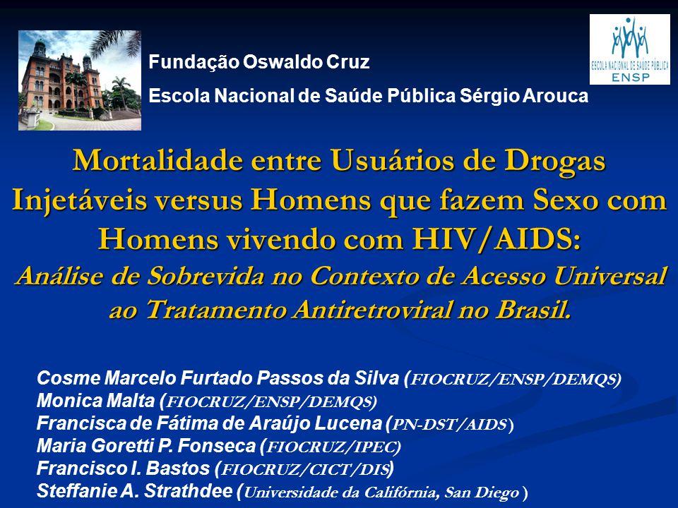 Mortalidade entre Usuários de Drogas Injetáveis versus Homens que fazem Sexo com Homens vivendo com HIV/AIDS: Análise de Sobrevida no Contexto de Aces