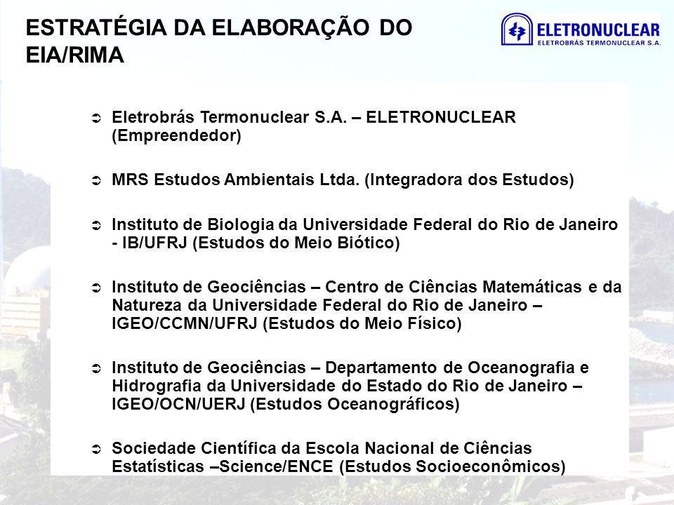 ESTRATÉGIA DA ELABORAÇÃO DO EIA/RIMA Eletrobrás Termonuclear S.A. – ELETRONUCLEAR (Empreendedor) MRS Estudos Ambientais Ltda. (Integradora dos Estudos