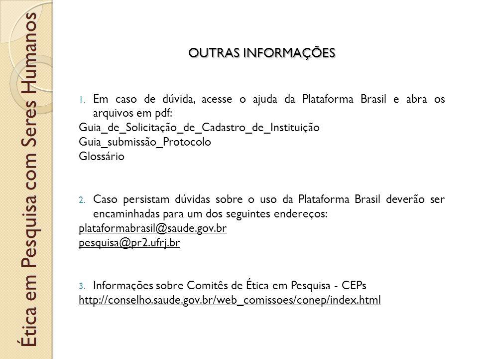 OUTRAS INFORMAÇÕES 1.