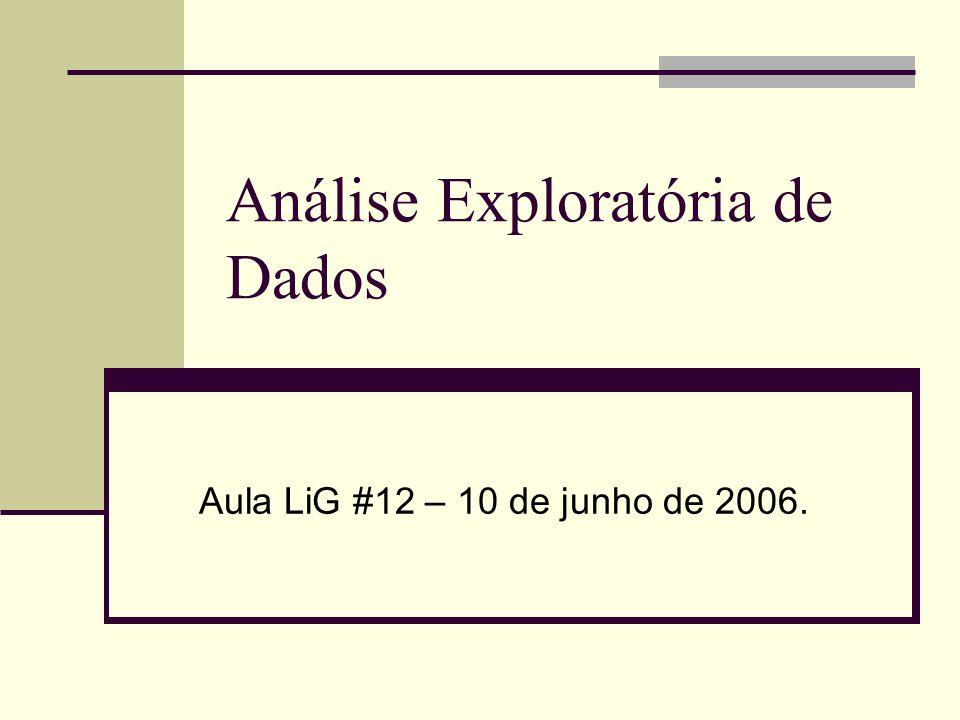 Análise Exploratória de Dados Aula LiG #12 – 10 de junho de 2006.