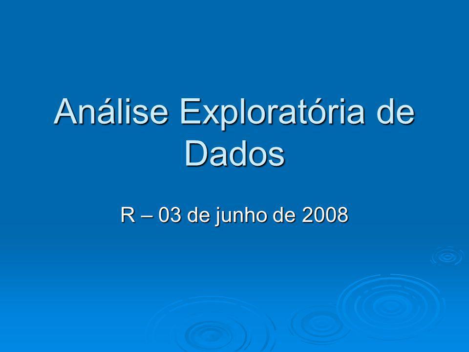 Análise Exploratória de Dados R – 03 de junho de 2008