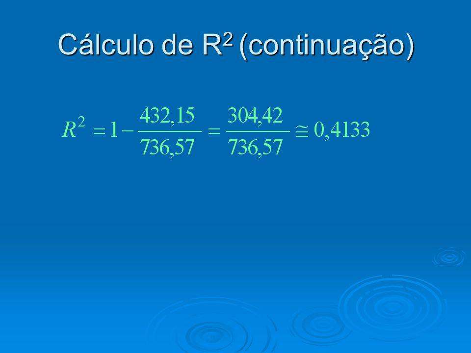 Cálculo de R 2 (continuação)