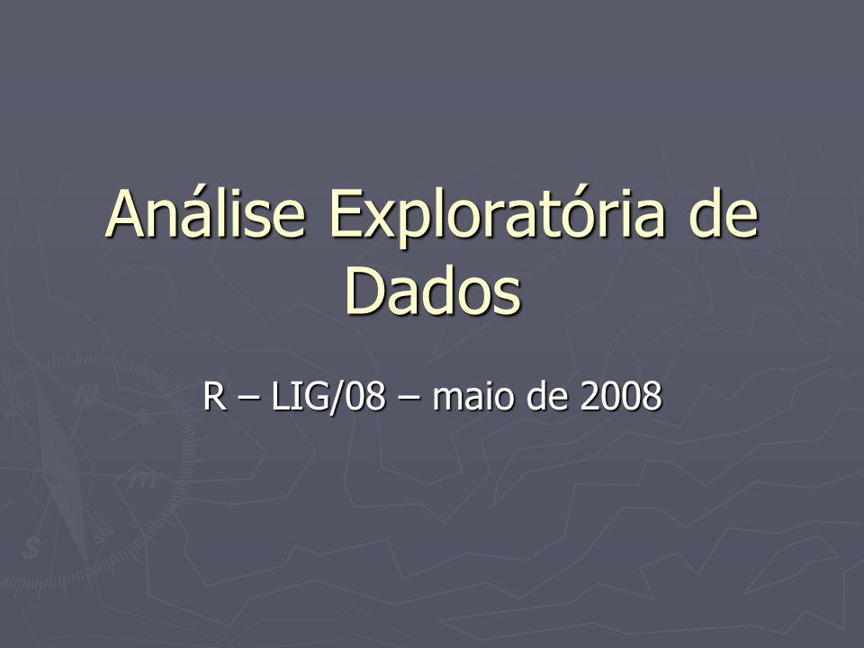 Análise Exploratória de Dados R – LIG/08 – maio de 2008