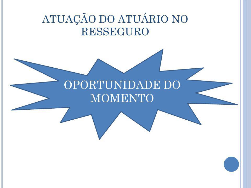 ATUAÇÃO DO ATUÁRIO NO RESSEGURO OPORTUNIDADE DO MOMENTO