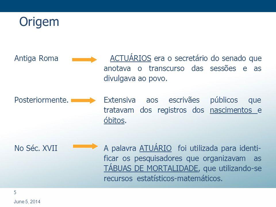 6 June 5, 2014 COMPARATIVO ENTRE O BRASIL E O MUNDO 2008 BRASIL 900BRASIL 900 MUNDO 35.000MUNDO 35.000 Atuários no Mundo