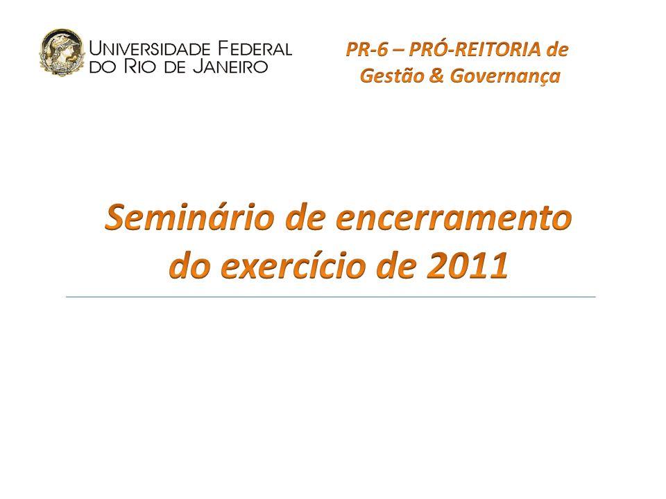 Inovações para 2012: Reformulação do Plano de Contas Conformidade de gestão Registro da depreciação DCTF (apresentação obrigatória) Implantação do Novo CPR Mascarás de Análise e Notas Explicativas
