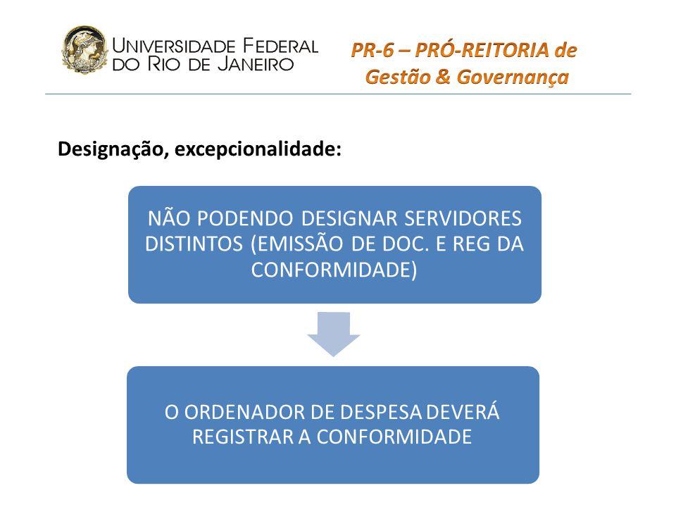 Designação, excepcionalidade: NÃO PODENDO DESIGNAR SERVIDORES DISTINTOS (EMISSÃO DE DOC.