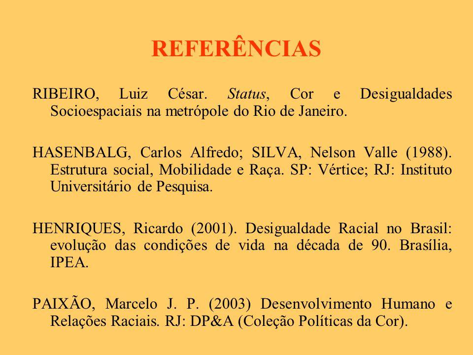 PROJETO/2006 OBJETIVOS GERAIS Produzir informações (a partir dos censos de 1980/1990/2000, PNADs, outros) sobre as condições de vida e a situação de desigualdade social, econômica e cultural da população negra da Região Metropolitana de Belo Horizonte, a partir de uma análise sócio-espacial.