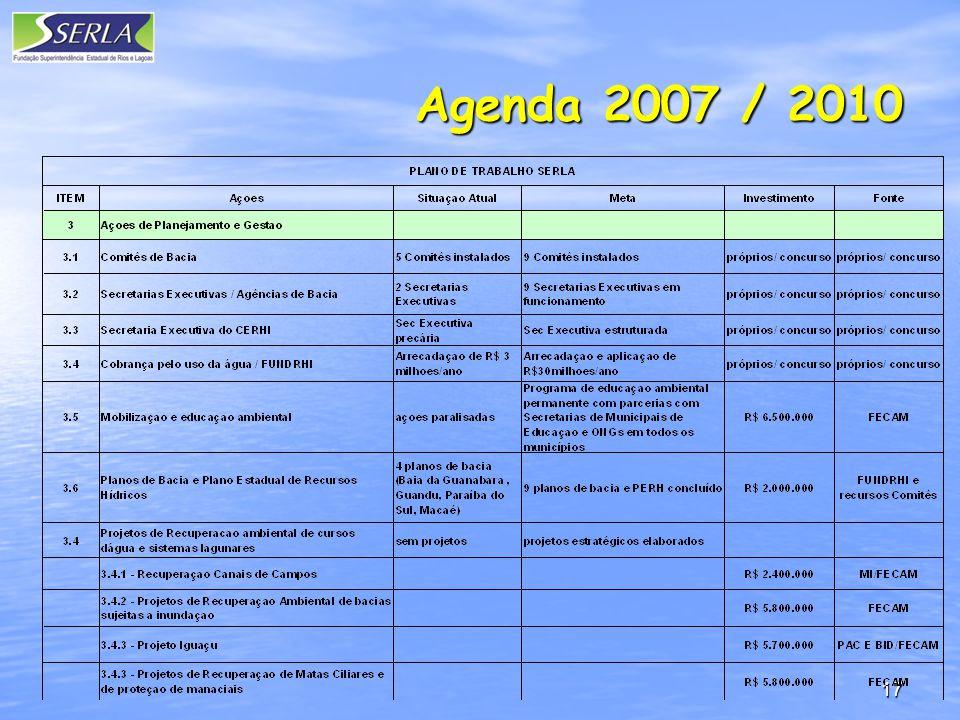 17 Agenda 2007 / 2010