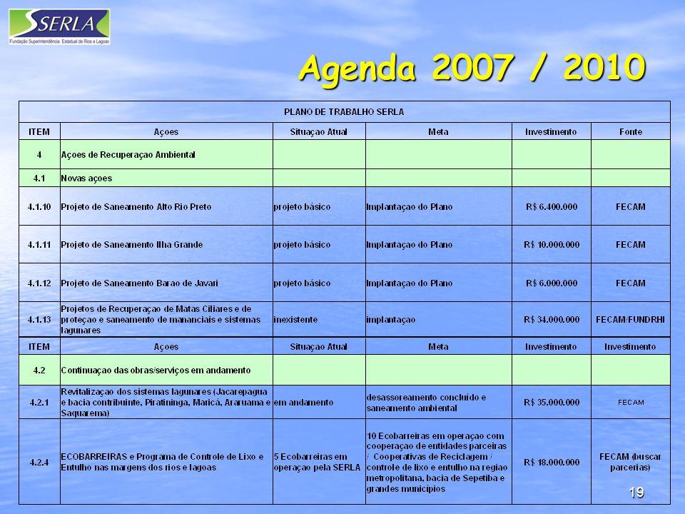19 Agenda 2007 / 2010