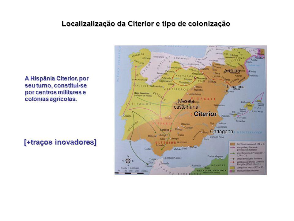 As subdivisões administrativas posteriores na Hispânia Ulterior são formadas por duas províncias: Bética Lusitânia