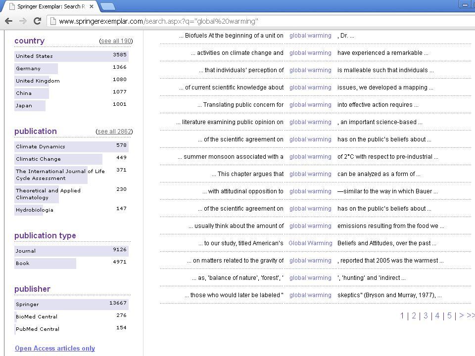 Author Mapper http://www.authormapper.com/ http://www.authormapper.com/ O AuthorMapper.com é uma ferramenta que permite localizar pesquisas científicas a partir de uma representação gráfica em um mapa interativo.