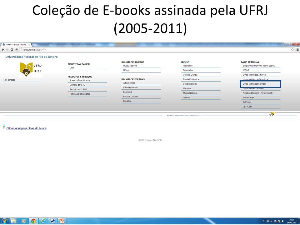 Coleção de E-books assinada pela UFRJ (2005-2011)