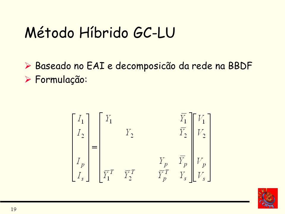 19 Método Híbrido GC-LU Baseado no EAI e decomposicão da rede na BBDF Formulação: