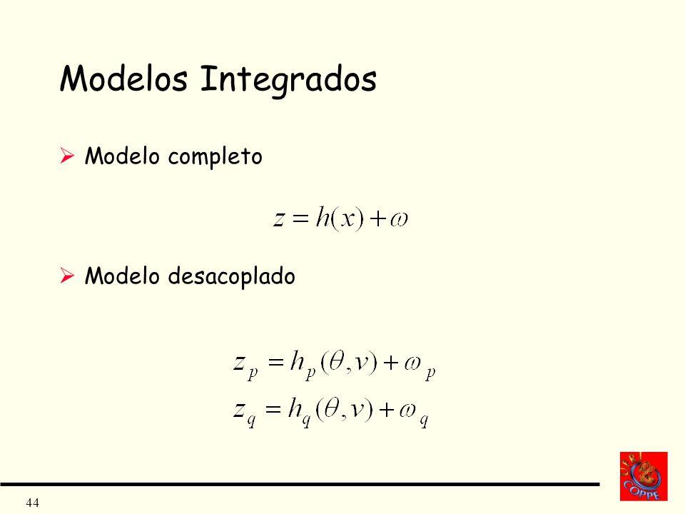 44 Modelos Integrados Modelo completo Modelo desacoplado