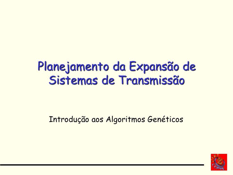 Planejamento da Expansão de Sistemas de Transmissão Introdução aos Algoritmos Genéticos