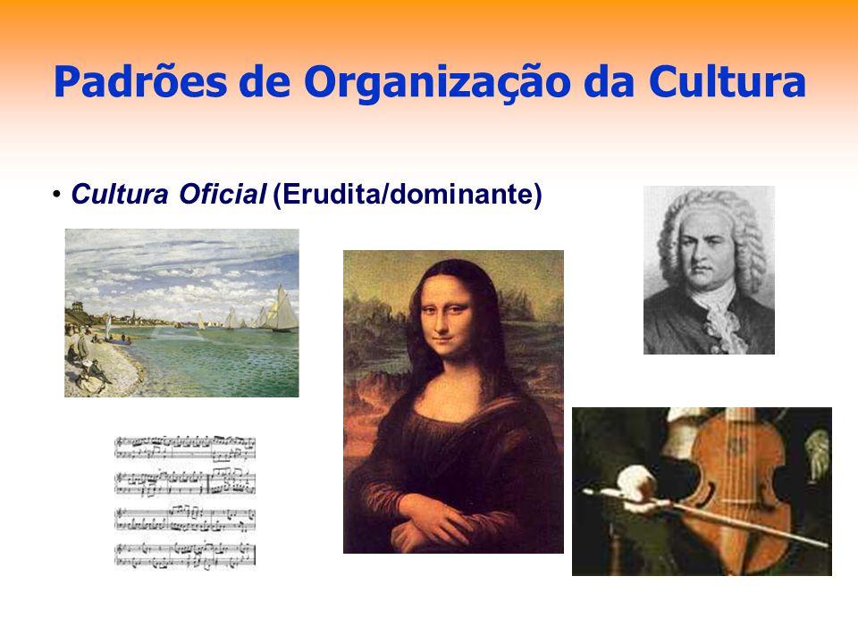 Padrões de Organização da Cultura Cultura Oficial (Erudita/dominante)