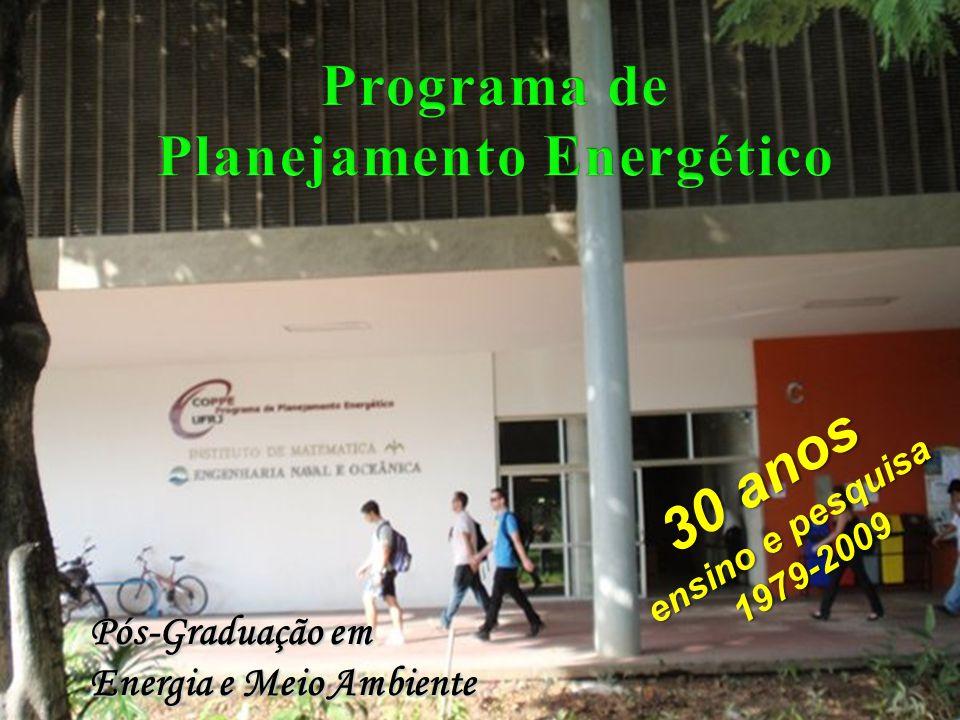 PPE pioneiro no Brasil e na América Latina em Planejamento Energético e Ambiental PPE pioneiro no Brasil e na América Latina em Planejamento Energético e Ambiental