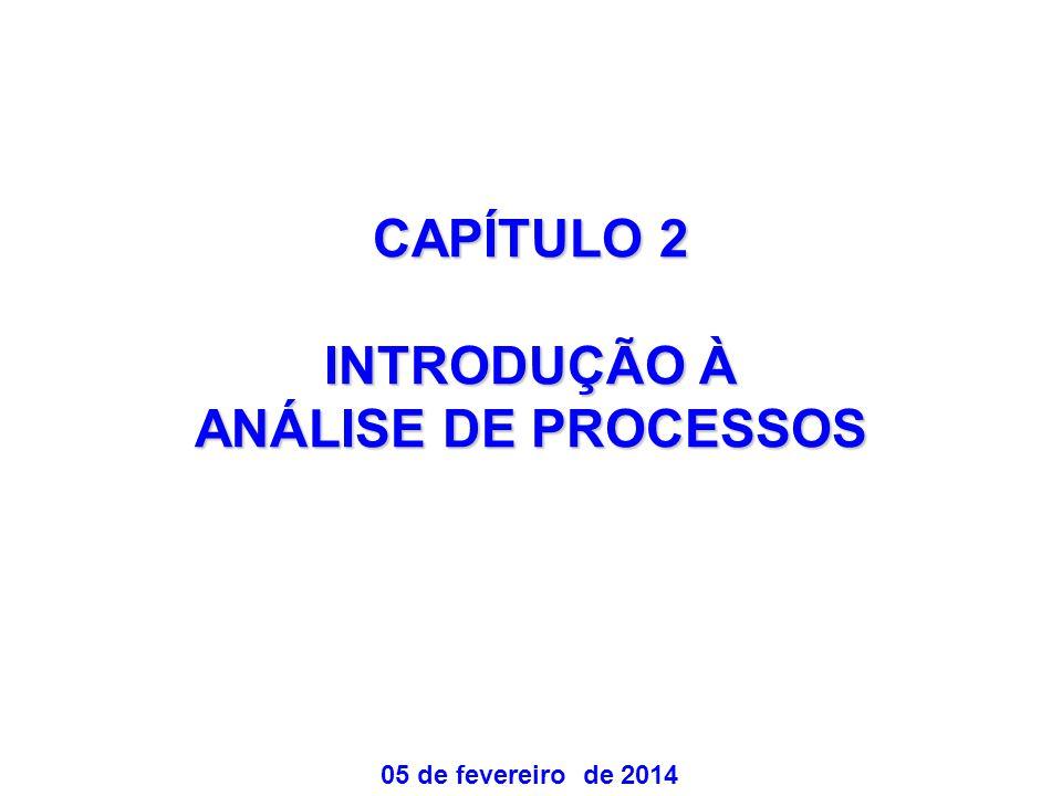 CAPÍTULO 2 INTRODUÇÃO À ANÁLISE DE PROCESSOS 05 de fevereiro de 2014