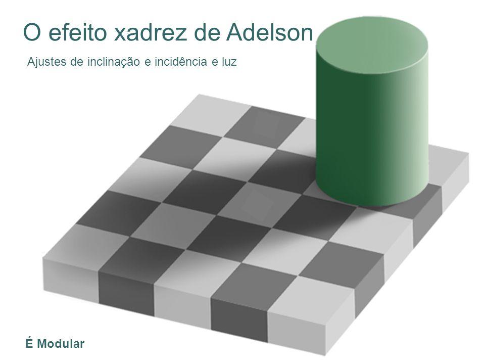O efeito xadrez de Adelson Ajustes de inclinação e incidência e luz É Modular