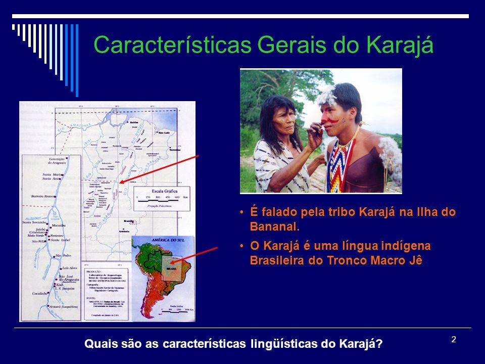 12 Conclusões: Os sintagmas Qu em Karajá possuem uma estrutura interna complexa que pode ser analisada através do suporte teórico da Morfologia Distribuída.