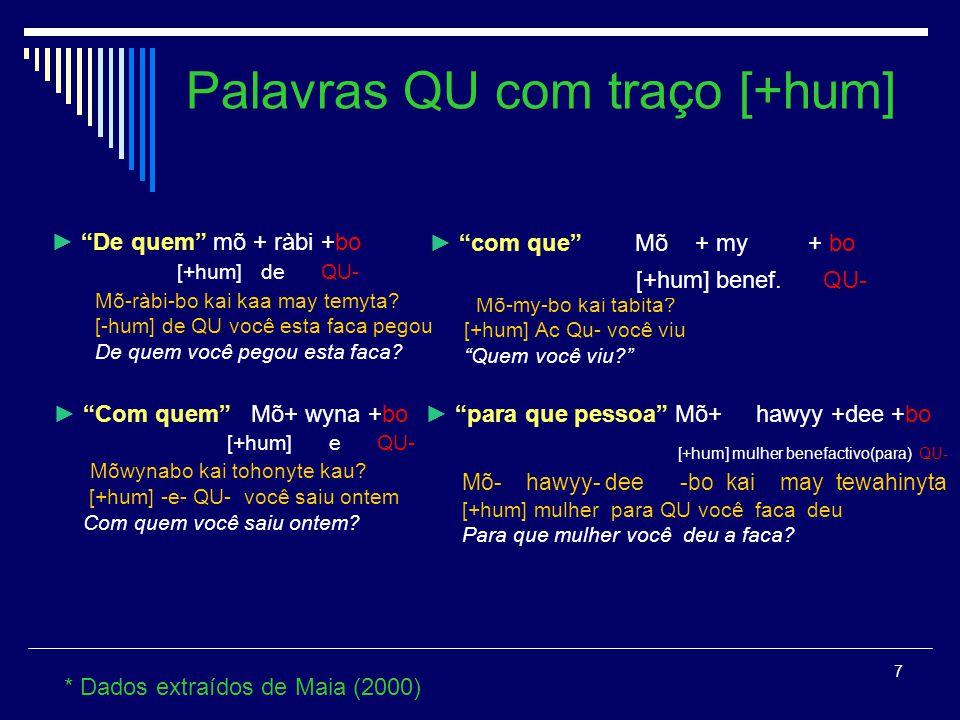 6 * Dados extraídos de Maia (1986) e Maia (2000) Mõdeebo tii kua wyny riwahinyra.