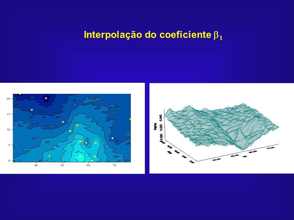 Interpolação do coeficiente