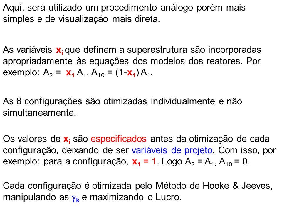 Aquí, será utilizado um procedimento análogo porém mais simples e de visualização mais direta. As variáveis x i que definem a superestrutura são incor