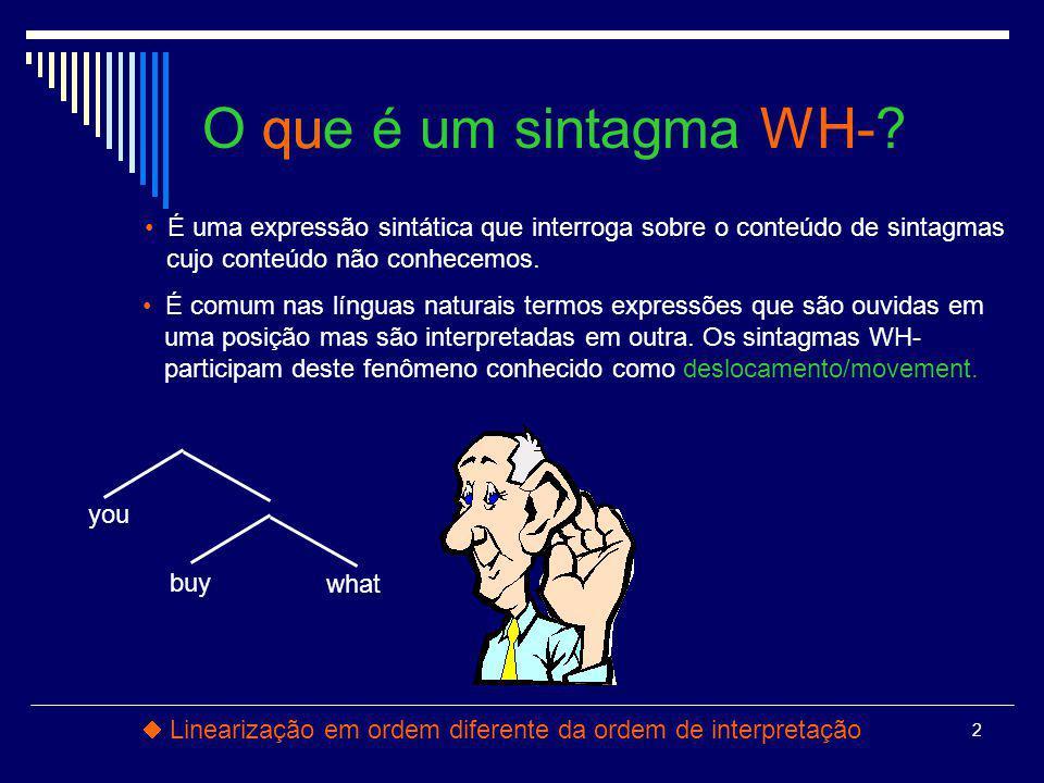 2 O que é um sintagma WH-.