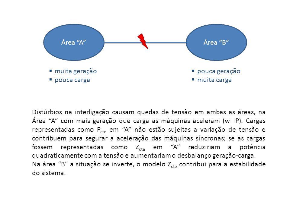 Modelos de carga Modelo Polinomial: Modelo Exponencial: normalmente: a 1 + b 1 + c 1 = 1 a 2 + b 2 + c 2 = 1 normalmente: Kp = 0 3 Kq = 0 3