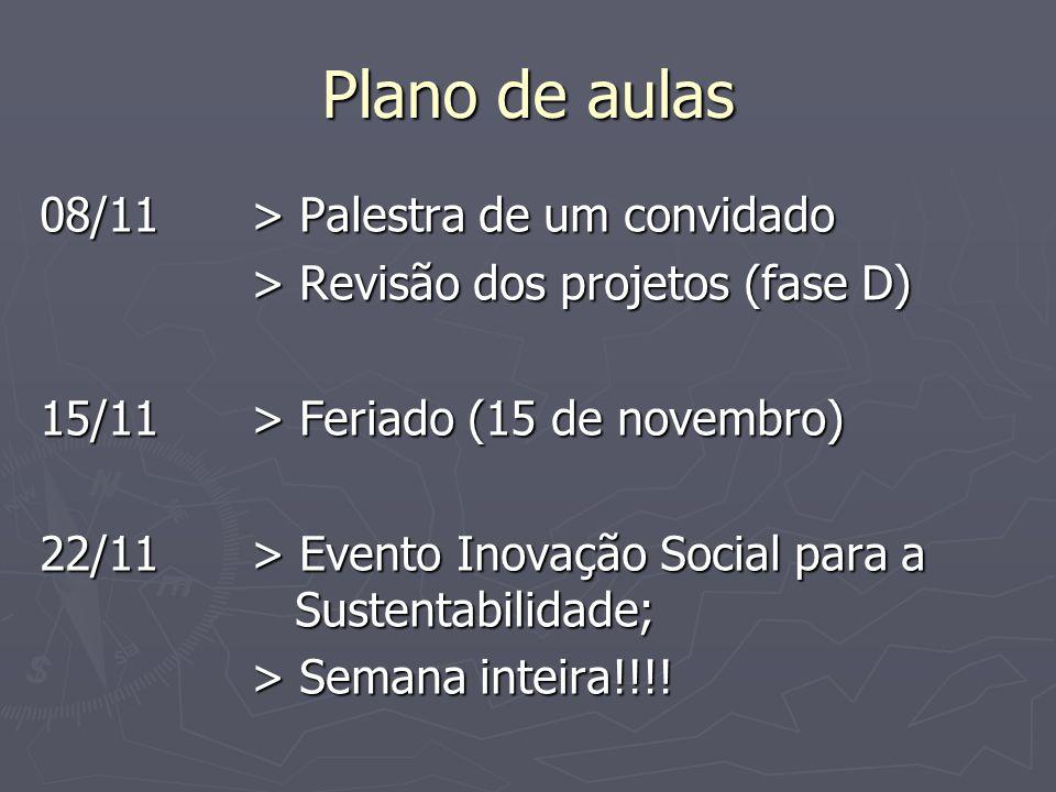 Plano de aulas 29/11> Apresentação final dos projetos.