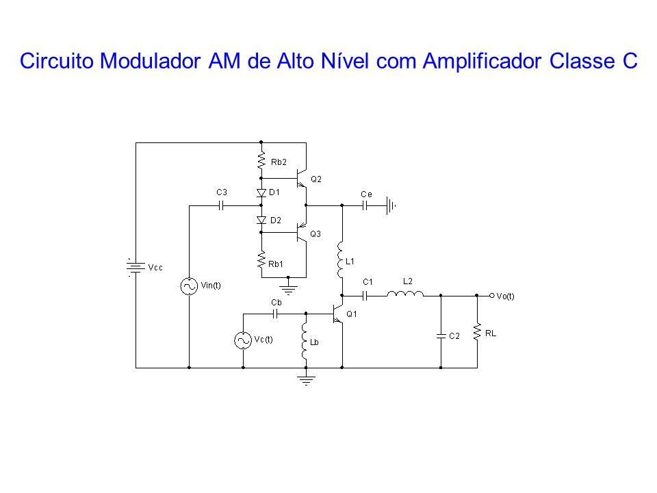 Circuito Modulador AM de Alto Nível com Amplificador Classe C