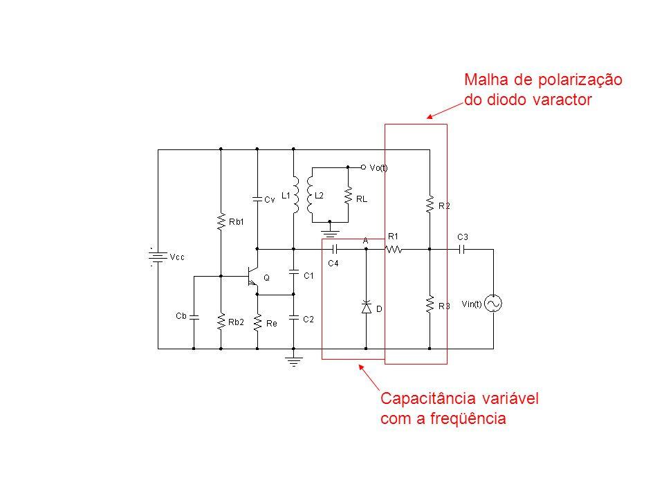 Malha de polarização do diodo varactor