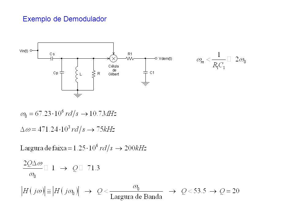 Exemplo de Demodulador