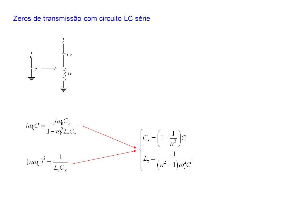 Zeros de transmissão com circuito LC série