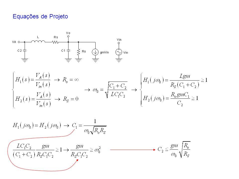 Equações de Projeto