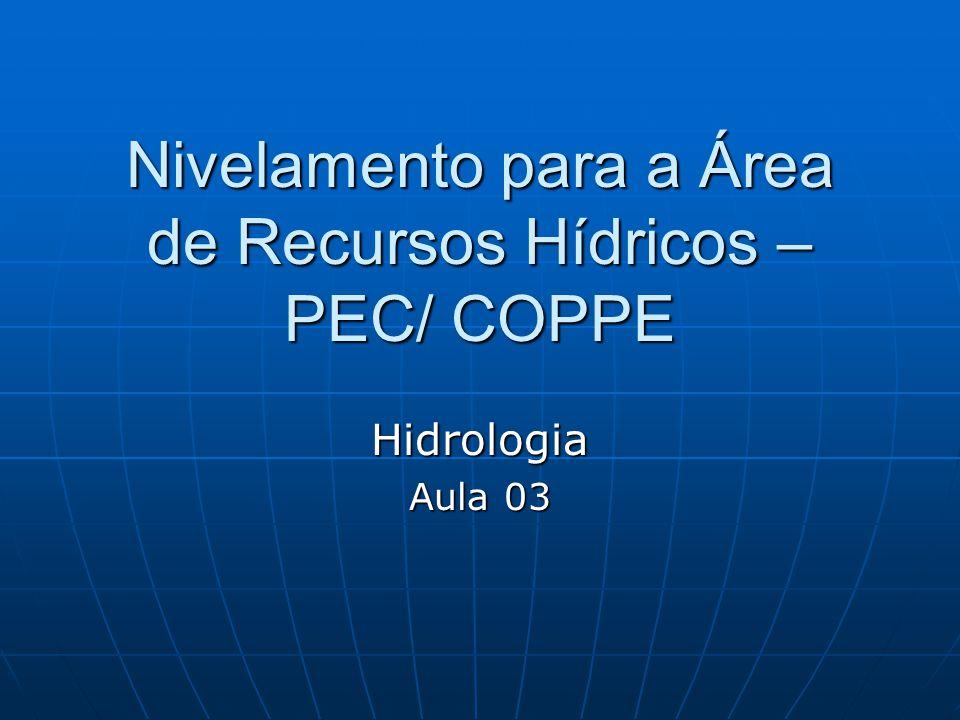 Nivelamento para a Área de Recursos Hídricos – PEC/ COPPE Hidrologia Aula 03