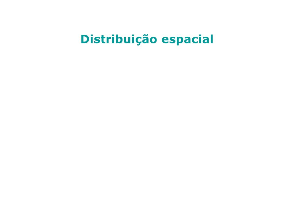 Distribuição geográfica Massas d água – apresentam propriedades físico- químicas e ecológicas particulares que são mais uniformes na origem e ocupam um horizonte específico de acordo com a densidade.