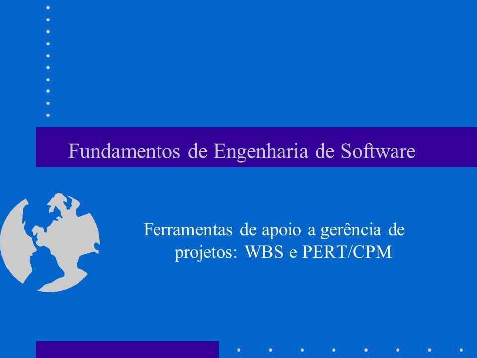 Fundamentos de Engenharia de Software Ferramentas de apoio a gerência de projetos: WBS e PERT/CPM