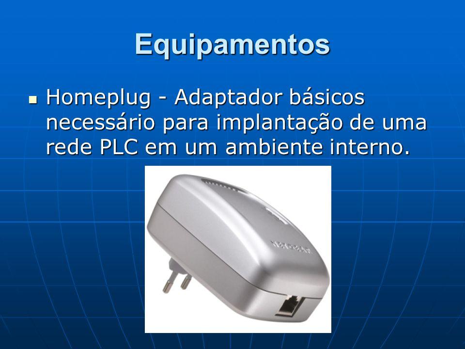 Equipamentos Homeplug - Adaptador básicos necessário para implantação de uma rede PLC em um ambiente interno. Homeplug - Adaptador básicos necessário